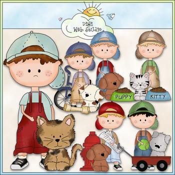 Dougy Pets Clip Art - CU Colored Clip Art