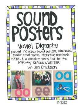 Sound Posters:  Vowel Digraphs