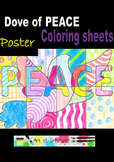 Dove of PEACE - Coloring sheets, Poster
