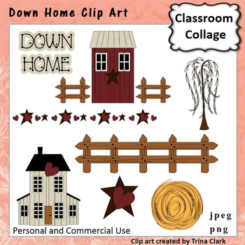 Down Home Clip Art  Color  personal & commercial use