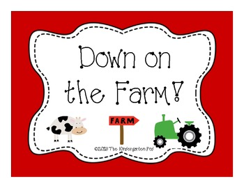 Down On the Farm Math & Literacy Unit