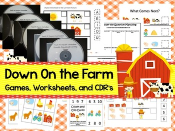Down On the Farm preschool curriculum package. Great for d