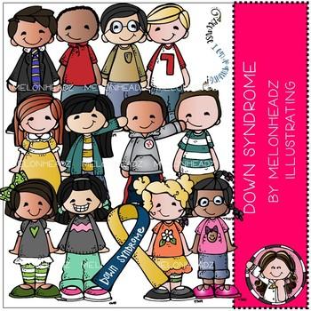 Melonheadz: Down Syndrome Awareness clip art - COMBO PACK