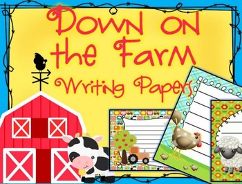 Down on the Farm Themed Writing Paper - Literacy - Writing