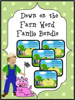 Down on the Farm Word Bundle