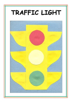 Downloadable Traffic Light Cut and Paste Art Activity for