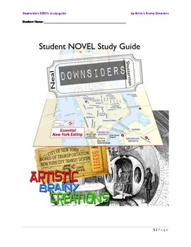 Downsiders, a Novel Study Guide for Students!