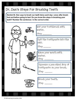 Dr. Dan's Steps for Brushing Teeth