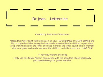 Dr. Jean Lettercise Power Point (NO SONG, just slides!)