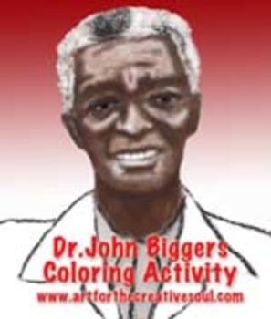 Dr. John Biggers Coloring Activity