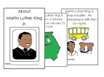 Dr Martin Luther King English Coloring Reading 8 pg bookle