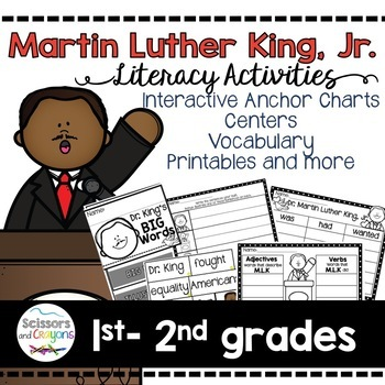 Dr. Martin Luther King Jr. Class Book, Printables, and voc