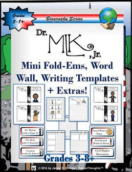 Dr. Martin Luther King, Jr. Mini Fold-Ems, Word Wall, and