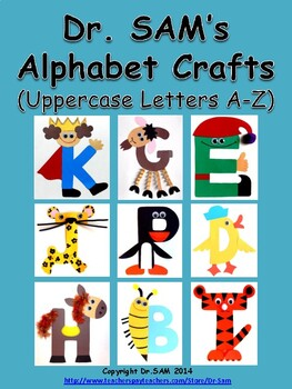 Dr SAM's Alphabet Crafts (Uppercase Letters A-Z)
