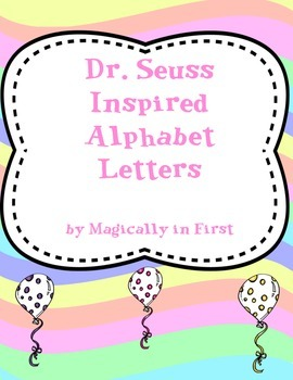 Dr. Seuss Alphabet Letter - Spanish - Oh the Places You'll Gos
