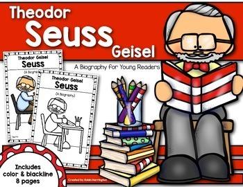 Theodor Seuss Geisel{A Biography} Reader for First Grade &
