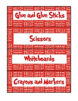 Dr. Seuss Classroom-Supply Labels