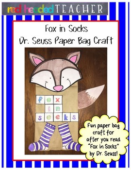 "Dr. Seuss ""Fox in Socks"" Craft"