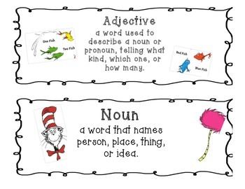 Dr. Seuss Grammar Wall Headers