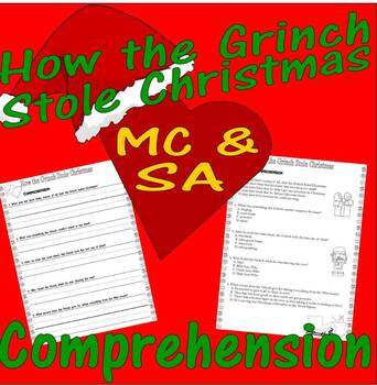 Dr Seuss How the Grinch Stole Christmas : Comprehension :