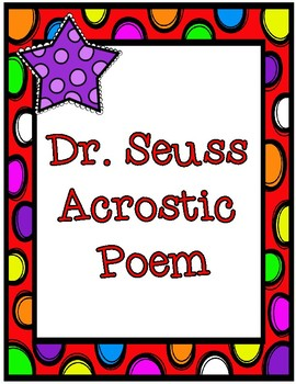 Dr. Seuss Inspired Acrostic Poem Poetry Frame
