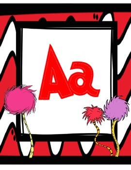 Dr. Seuss Inspired Alphabet