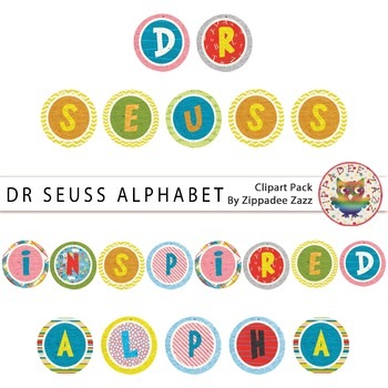 Dr Seuss Inspired Alphabet Clipart-Cat in the Hat/Places Y