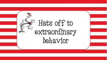 Dr. Seuss Inspired Behavior Chart
