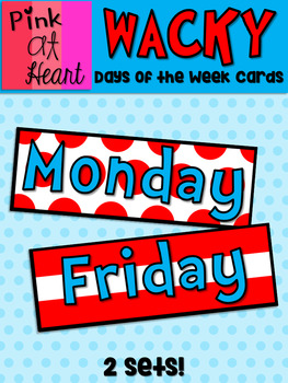 Dr. Seuss Inspired Days of the Week Cards