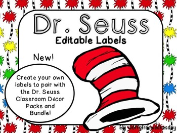 Dr. Seuss Inspired Editable Labels