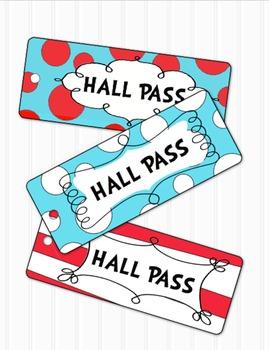 Dr Seuss Inspired Hall Pass