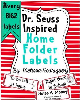 Dr. S Inspired Home Folder Labels
