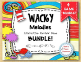 Wacky Melodies - Interactive Review Game - BUNDLE – 4 GAMES!