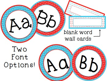 Dr. Seuss Inspired Word Wall Letters