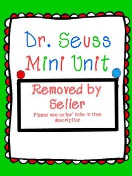 Dr. Seuss Mini Unit: Allliteration, Rhyme, & Repetition (C