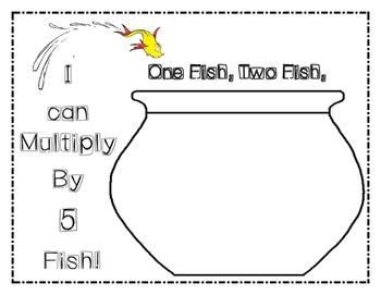 Dr. Seuss One Fish Two Fish Multiplication Game / Math Center