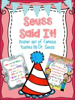 Dr. Seuss Poster Set for Reading Centers