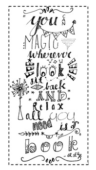 Dr. Seuss Quote Bookmark - Hand Lettered