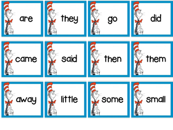 Dr Seuss Sight Word Cards {FREEBIE}