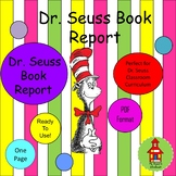 Dr. Seuss Simple Book Report