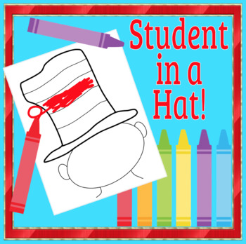 Dr. Seuss Student in a Hat Template