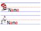 Dr. Seuss Theme Cubby Nametags (EDITABLE)