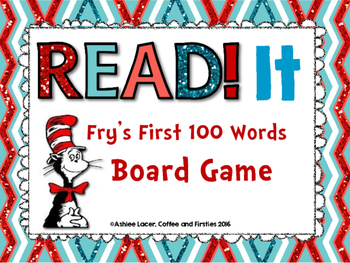 Dr. Seuss Themed Fry's 1st 100 Board Game