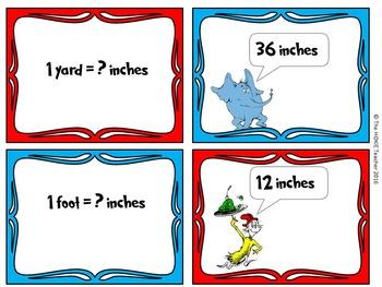 Dr. Seuss Themed Measurement Flash Cards