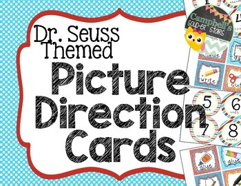 Dr. Seuss Themed {Picture Direction Cards}
