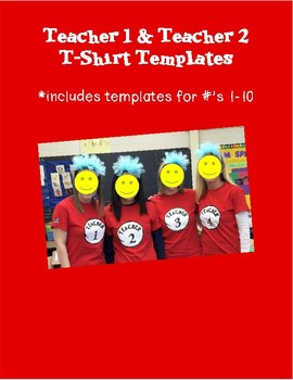 Dr Seuss Thing 1 & Thing 2 Inspired Teacher T-Shirts