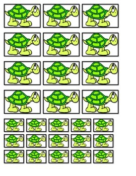 GOOD DOCTOR TURTLE BOOK sorting sizes small medium large E