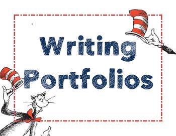 Dr. Seuss Writing Portfolio Poster/ Cover