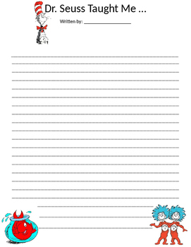 Dr. Seuss Writing Template