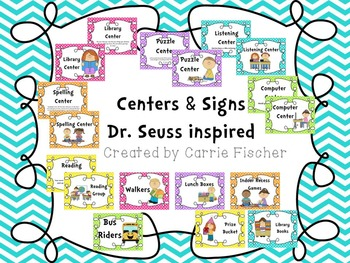 Dr. Seuss inspired Centers & Signs